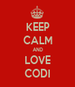 KEEP CALM AND LOVE CODI - Personalised Tea Towel: Premium