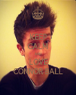 KEEP CALM AND LOVE CONNOR BALL - Personalised Tea Towel: Premium