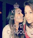 KEEP CALM AND LOVE CONSOLI - Personalised Tea Towel: Premium