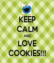 KEEP CALM AND LOVE COOKIES!!! - Personalised Tea Towel: Premium