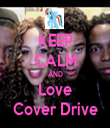 KEEP CALM AND Love Cover Drive - Personalised Tea Towel: Premium
