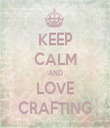 KEEP CALM AND LOVE CRAFTING - Personalised Tea Towel: Premium