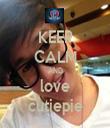 KEEP CALM AND love cutiepie - Personalised Tea Towel: Premium