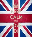 KEEP CALM AND  LOVE D1 - Personalised Tea Towel: Premium