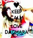 KEEP CALM AND LOVE DAGMARA - Personalised Tea Towel: Premium