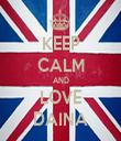 KEEP CALM AND LOVE DAINA - Personalised Tea Towel: Premium