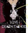 KEEP CALM AND LOVE DEATH THE KID - Personalised Tea Towel: Premium