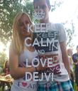 KEEP CALM AND LOVE DEJVI - Personalised Tea Towel: Premium