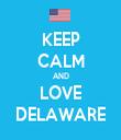 KEEP CALM AND LOVE DELAWARE - Personalised Tea Towel: Premium