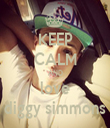 KEEP CALM AND love diggy simmons - Personalised Tea Towel: Premium