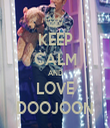 KEEP CALM AND LOVE DOOJOON - Personalised Tea Towel: Premium