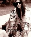 KEEP CALM AND LOVE DOROTA - Personalised Tea Towel: Premium