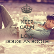 KEEP CALM AND LOVE DOUGLAS BOOTH - Personalised Tea Towel: Premium