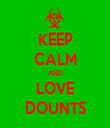 KEEP CALM AND LOVE DOUNTS - Personalised Tea Towel: Premium