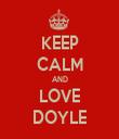 KEEP CALM AND LOVE DOYLE - Personalised Tea Towel: Premium