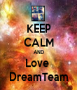 KEEP CALM AND Love  DreamTeam - Personalised Tea Towel: Premium