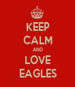 KEEP CALM AND LOVE EAGLES - Personalised Tea Towel: Premium