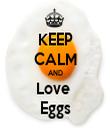 KEEP CALM AND Love  Eggs - Personalised Tea Towel: Premium