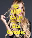 KEEP CALM AND LOVE Eiza Gonzalez - Personalised Tea Towel: Premium