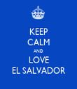 KEEP CALM AND LOVE EL SALVADOR - Personalised Tea Towel: Premium