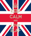 KEEP CALM AND Love ELAF - Personalised Tea Towel: Premium