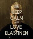 KEEP CALM AND LOVE  ELASTINEN - Personalised Tea Towel: Premium
