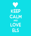KEEP CALM AND LOVE ELS - Personalised Tea Towel: Premium