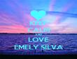 KEEP CALM AND LOVE EMELY SILVA - Personalised Tea Towel: Premium