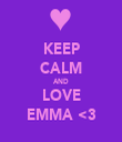 KEEP CALM AND LOVE EMMA <3 - Personalised Tea Towel: Premium