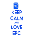 KEEP CALM AND LOVE EPC - Personalised Tea Towel: Premium