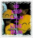 KEEP CALM AND LOVE  ERLIN - Personalised Tea Towel: Premium