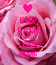KEEP CALM AND LOVE ESME - Personalised Tea Towel: Premium