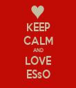KEEP CALM AND LOVE ESsO - Personalised Tea Towel: Premium