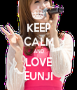 KEEP CALM AND LOVE EUNJI - Personalised Tea Towel: Premium