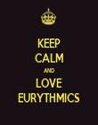 KEEP CALM AND LOVE EURYTHMICS - Personalised Tea Towel: Premium
