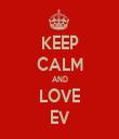 KEEP CALM AND LOVE EV - Personalised Tea Towel: Premium