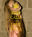 KEEP CALM AND LOVE EVITA - Personalised Tea Towel: Premium