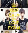 KEEP CALM AND LOVE EXO-M - Personalised Tea Towel: Premium