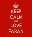KEEP CALM AND LOVE FARAN - Personalised Tea Towel: Premium
