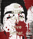 KEEP CALM AND Love Ferhat  - Personalised Tea Towel: Premium