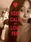 KEEP CALM AND LOVE FERI - Personalised Tea Towel: Premium