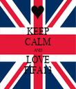 KEEP CALM AND LOVE FIFA13 - Personalised Tea Towel: Premium