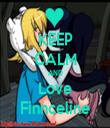 KEEP CALM AND Love Finnceline - Personalised Tea Towel: Premium