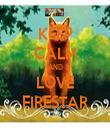 KEEP CALM AND LOVE FIRESTAR - Personalised Tea Towel: Premium