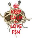 KEEP CALM AND LOVE FSM - Personalised Tea Towel: Premium