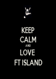 KEEP CALM AND LOVE  FT ISLAND - Personalised Tea Towel: Premium