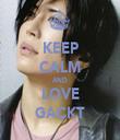 KEEP CALM AND LOVE GACKT - Personalised Tea Towel: Premium