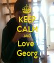 KEEP CALM AND Love  Georg - Personalised Tea Towel: Premium