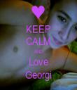 KEEP CALM AND Love Georgi - Personalised Tea Towel: Premium