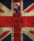 KEEP CALM AND LOVE GHADI - Personalised Tea Towel: Premium